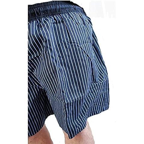 BROOKER -  Pantaloncini - A righe - Uomo Blu Blu navy XXXXX-Large