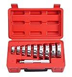 FreeTec 10 pezzi Simmerring guarnizioni Cuscinetto dei Cuscinetti Ruota Axle Estrattore Strumento, 9 dimensioni