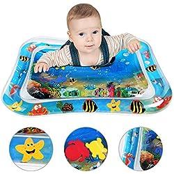 Alfombra de Agua, Alfombra Inflable con Agua, Tummy Time Centro de Actividades juguetes bebes 1 año de Esterilla de Agua PVC Grueso, Adecuado para niños pequeños, es el Momento de diversión 26 * 20in