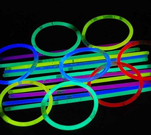 magic-man1001 Knicklichter 5 * 200 mm 100 Stück gemischt - Knicklicht Armreifen 5 Farben