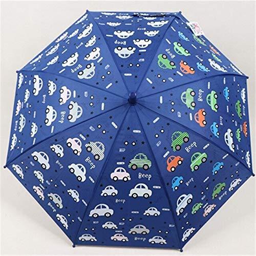 T-M Paraguas niños Azul Cambio Color Paraguas for