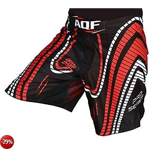AQF Shorts UFC MMA Grappling Corto Kick Boxing Mens Muay Thai Pantaloni Palestra Indossare LD