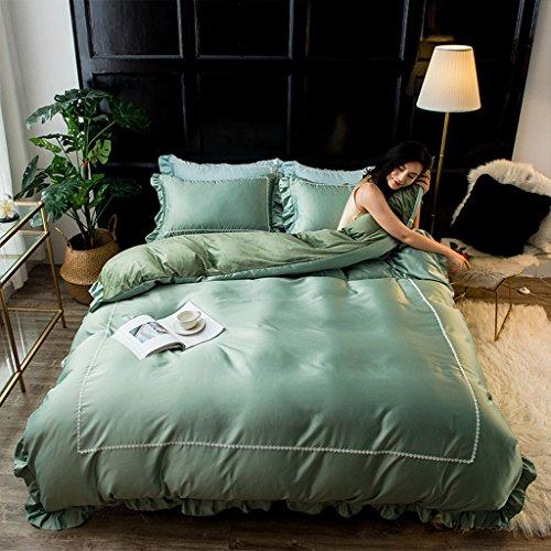 Taie d'oreiller housse de couette Draps Hôtel Polyester Automne Et Hiver Cristal Velours Lavé Soie Petite dentelle Quatre pièces ensemble Doublures de lit textile à la maison