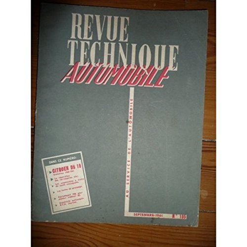 RTA0185 - REVUE TECHNIQUE AUTOMOBILE CITROEN DS19 Evolution 1960-1961