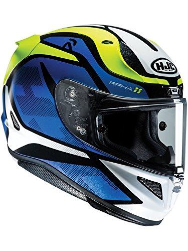 Casco Moto Hjc Rpha 11 Deroka Blu (M, Blu)