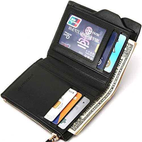 Bogesi- Männer Brieftasche Mit Reißverschluss Münztasche Movable ID Karte Halter Pure Blau Blau