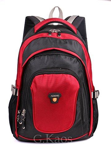 'Aoking by G. Kaos Rucksack Reise Schule mit Tasche-PC-14Zoll, 25Liter, Format 47x 30x 20cm–hn2431 Red/Black