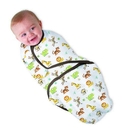 Summer Infant SwaddleMe Cotton Knit - Graphic Jungle (7 to 14 Pounds) (japan import)