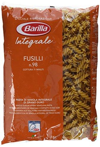 Barilla Vollkorn Pasta Fusilli Integrale - 3er Pack (3x1kg) - Braune Streifen Schneiden
