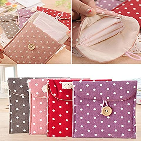 2pcs Mujeres Toalla Sanitaria Toalla Servilleta Dainty Purse Holder Bolsa Color Aleatorio