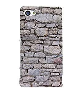 Rock Pattern 3D Hard Polycarbonate Designer Back Case Cover for Sony Xperia Z5 Compact :: Sony Xperia Z5 Mini