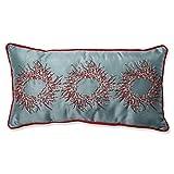 Pillow Perfect Christmas Wreaths Rectang...