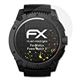 atFoliX Schutzfolie für Matrix PowerWatch X Displayschutzfolie - 3 x FX-Antireflex blendfreie Folie
