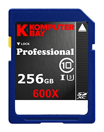 Komputerbay Professionelle 256 GB High Speed SDXC Class 10 UHS-I, U3 600X-Flash-Karte