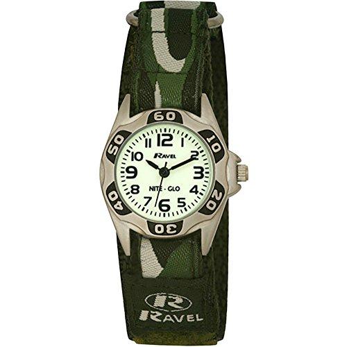 Ravel Jungen-Armbanduhr Nite Glo Analog Nylon grün R1704.11