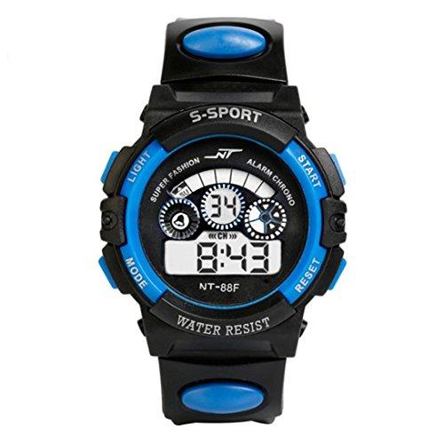 Preisvergleich Produktbild Uhr Herren Uhren Herrenuhr Sportuhr armbanduhr herren DAY.LIN Wasserdicht Herren Jungen Digital LED Quarz Alarm Datum Sport-Armbanduhr (Blau)