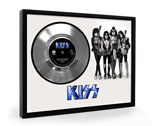 Kiss Crazy Crazy Nights Framed Silber Schallplatte Display Vinyl - Vinyl Crazy Nights Kiss