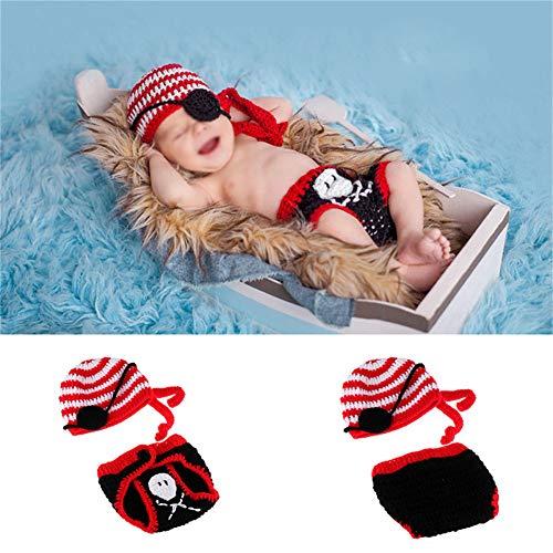Baby Piraten Kleidung - NROCF Baby-Fotografie Kleidung - Newborn Hundert