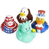 Assorted Patriotic Rubber Duckies (12)