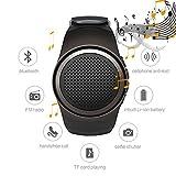 Multifunktionale drahtlose Bluetooth-Lautsprecher-Uhr (bequemes Sport-Armban, Mini-Outdoor-Lautsprecher), MP3-Musik-Player, Radio, Freisprech-Telefonate, Selbstauslöser Senden von Amazon(schwarz)
