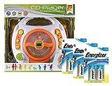 Idena 10111141b–Lettore CD Sing Along per bambini, con 2microfoni e display a led, con batterie Energizer Advanced