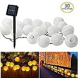 Gafild Solar Lichterkette Lampions 30 LED Laterne Warmweiß Lichterkette,...