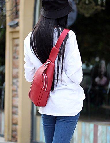 CLOTHES- Versione coreana della spalla obliqua Croce PU selvaggio di svago di modo di viaggio sacchetto della cassa Bag ( Colore : Giallo ) Rosso
