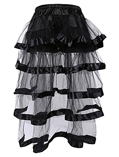 Martya Women's Steampunk Gothic Dress Costume Basque Lace Multi Layered Chiffon Skirt steampunk buy now online