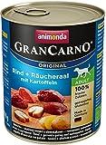 Animonda GranCarno Hundefutter Original Adult Rind + Räucheraal mit Kartoffeln, 6er Pack (6 x 800 g)