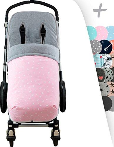 JANABEBE Universal Winter Fußsack für Kinderwagen & Buggy weiches (PINK SPARKLES, BAUMWOLLE)