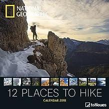 National Geographic Broschürenkalender 2018 12 places to hike - Wandkalender, Naturkalender 2018-30 x 30, geöffnet 30 x 60 cm