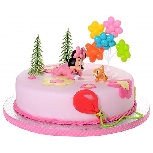 Tortendeko Minnie Mouse Baby 5 teiligTortenaufleger 1 Geburtstag Kindergeburtstag Kuchen Deko