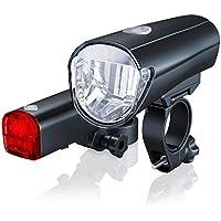 CSL-Computer StVZO Fahrradbeleuchtung Set | StVZO zugelassen | LED Fahrradlampe/Fahrradlicht Set inkl. Front- und Rückl