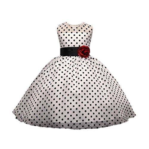 feiXIANG Mädchen Print Hochzeit Kleid Rundhals Splice Dancewear für Baby  Brautjungfer Tutu - Mädchen Kinder Prinzessin Kleid Kinder Blumen  ärmelloses Rock ... daeaa9cc9a