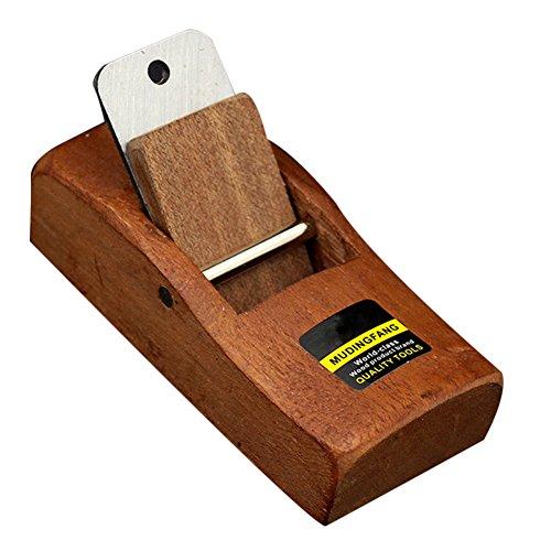 Tragbar Carpenter Hobelmesser Mini Holz Handhobel Holz arbeiten Werkzeug (Braun)
