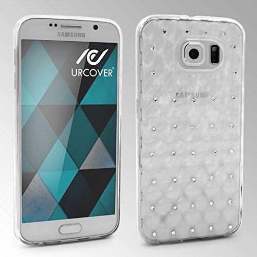 URCOVER Coque Back-case Housse Glittery Diamant pour Apple iPhone 6 Plus / 6s Plus | Étui avec Strass Scintillantes et Pailletté en Silicone TPU Souple in Transparente Transparente