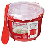 Sistema Microwave Rice Steamer, 2.6 L - Red/Clear Bild 1
