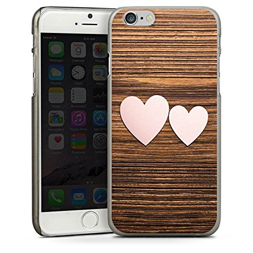 Apple iPhone 4 Housse Étui Silicone Coque Protection C½ur Amour Amour CasDur anthracite clair