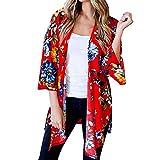 Amphia - Bedruckte Kimono-Cardigan-Strandbluse - Beiläufiger Schal-Druck-Kimono-Cardigan-Oberbekleidung der Art- und Weisewomens bedeckt Bluse Beachwear