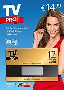TV Pro Gold - Deine neue TV Programm App mit allen Funktionen 12 Monate Geschenkkarte (Kein Abo!), inkl. Smart TV Fernbedienung