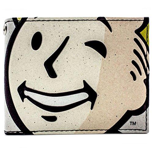 Bethesda Fallout 4 Vault Boy Blinzeln Grau Portemonnaie Geldbörse
