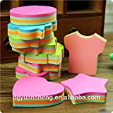 #6: KABEER ART 100 Pages Multicolor Sticky Notes Cute Shape Memo Pads Sticker Post It Bookmark Marker Flags Sticker (SET OF 3)