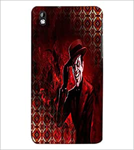 PrintDhaba Scary Cartoon D-3989 Back Case Cover for HTC DESIRE 816 (Multi-Coloured)