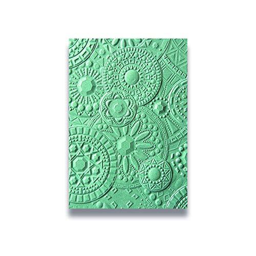 Sizzix 663206 Impressionen Prägefolder Mosaic Gems Stanzschablonen, Mehrfarben, Einheitsgröße