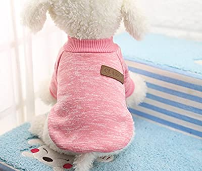 Doggie Style Store Pink Classic Dog Pet Puppy Casual Jumper Winter Sweater Tracksuit Top Sweatshirt