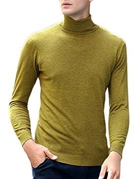 PDFGO Jerseys Para Hombres Prendas De Punto Cárdigan Camisa Con Base Cobertura Otoño / Invierno Jersey Hombre...