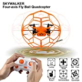 2.4GHZ Sky Walker 1340 6 Axis Mini RC Quadcopter 360 Flip, Automatic Mode Flying in Circles RTF 4CH(orange/green random)