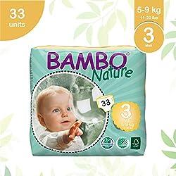 Bambo natura pannolini Eco, MIDI/taglia 3, da 5a 9kg, pezzi per confezione, confezione da 6