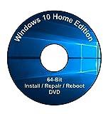 Windows 10 Home Edition 64-Bit Installation & Format HDD DVD Disc