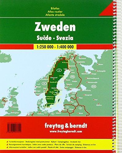 Schweden, Autoatlas 1:250.000 - 1:400.000 (freytag & berndt Autoatlanten): Alle Infos bei Amazon